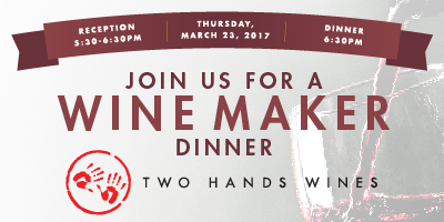 Two Hands Wine Dinner