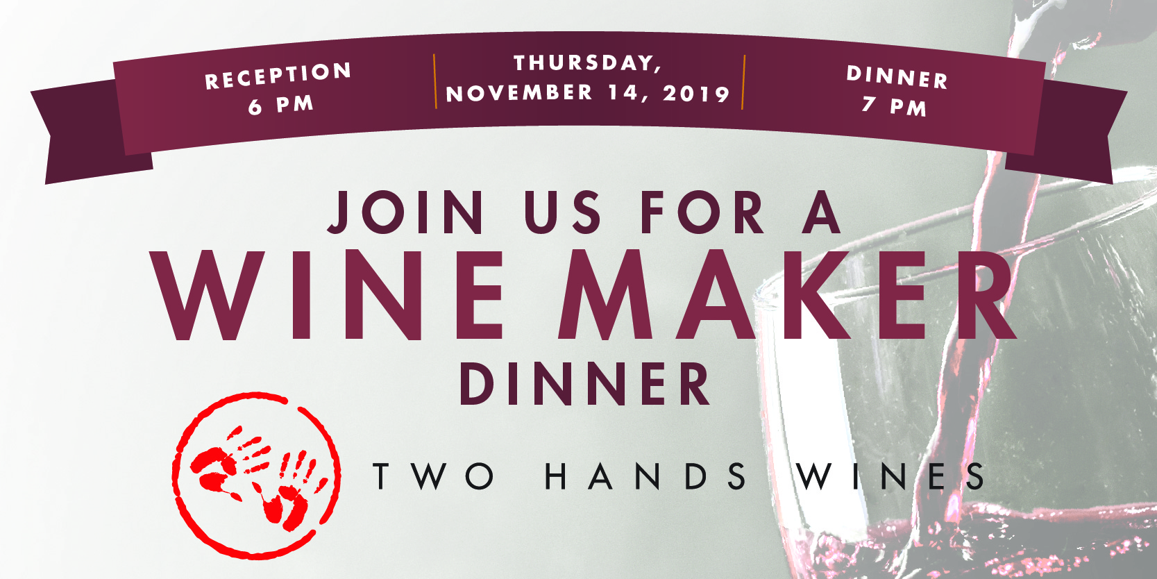 Wine Maker Dinner featuring Two Hands Wines
