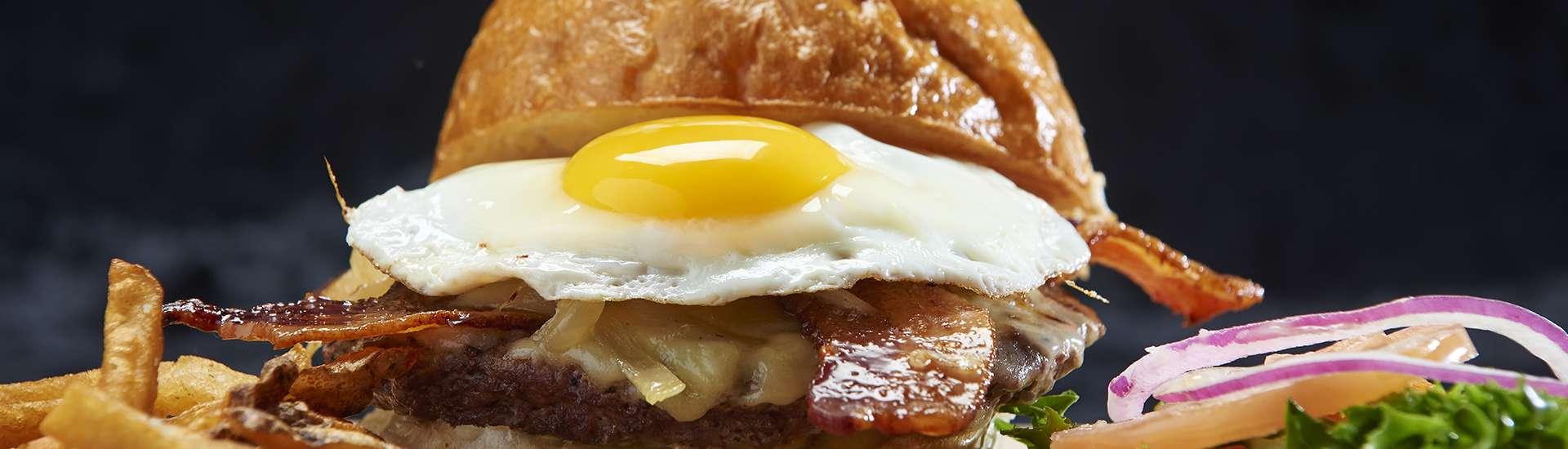 Egg Bacon Hamburger at Whiskers at The Nittany Lion Inn
