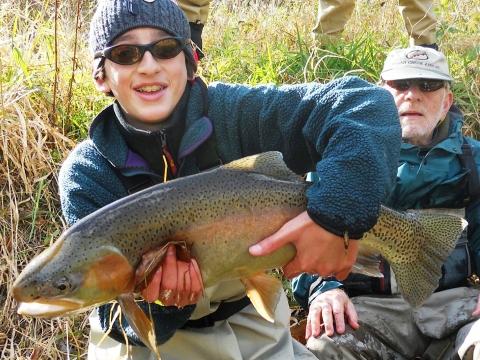 Nice rainbow trout on Penn's Creek