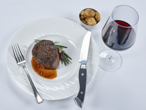 Steak with Wine
