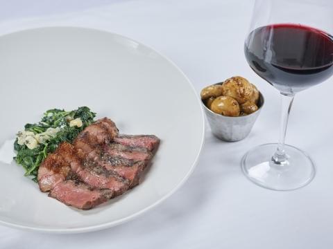 Steak with Wine