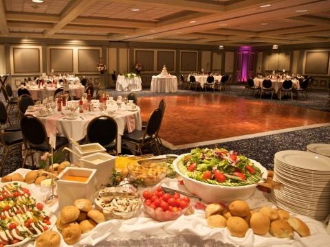 Table set up in the Ballroom with dancefloor
