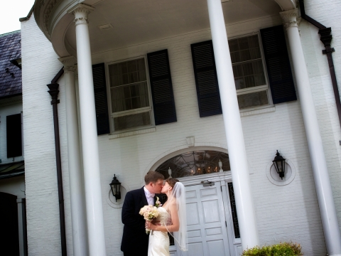 Couple at the front of the Inn