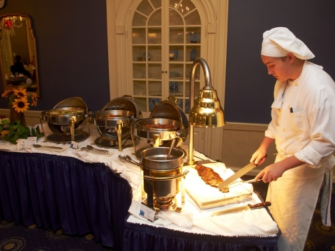 Chef with Buffet Food