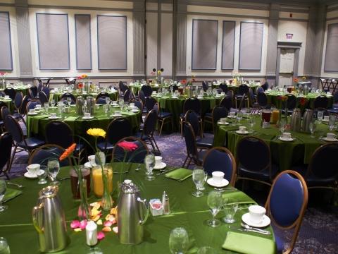 Ballroom table setups