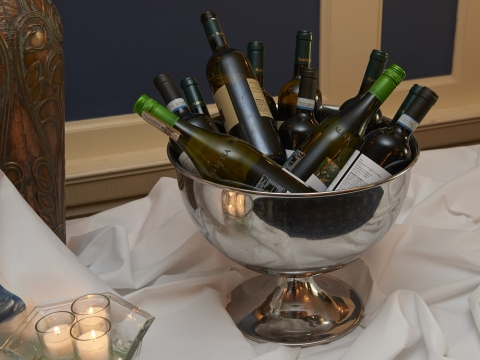 Bucket of Wine Bottles