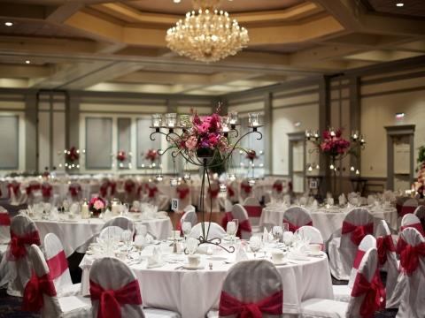 NLI Ballroom Wedding Setup
