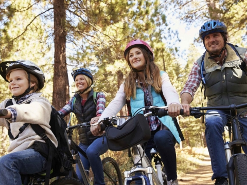 Mountain Biking Family