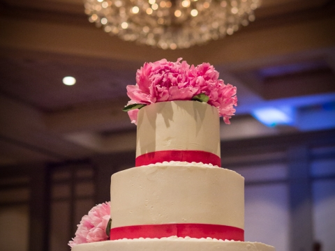 Wedding cake in the Ballroom