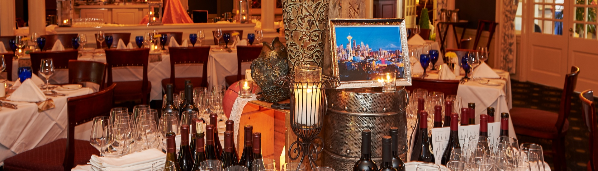 Wine Dinner tables