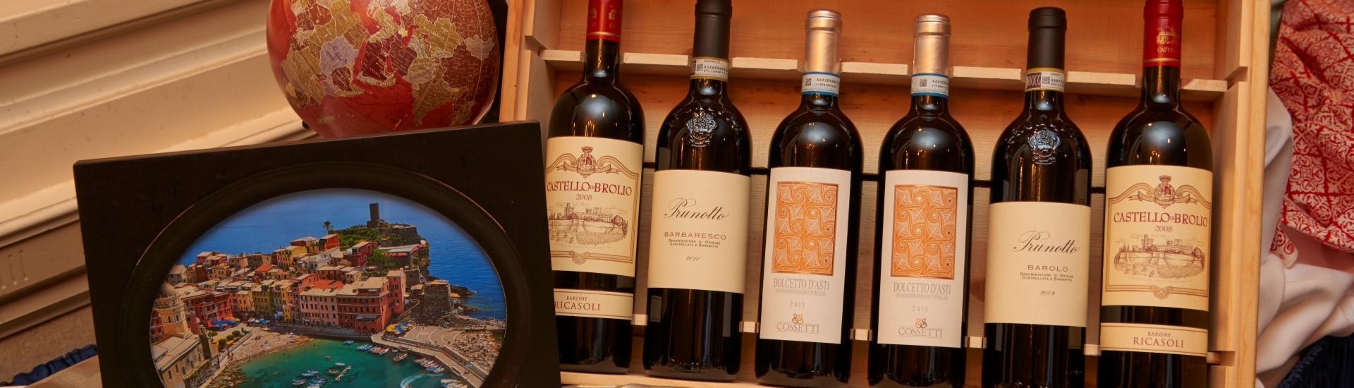 Wine Dinner wine bottles on table