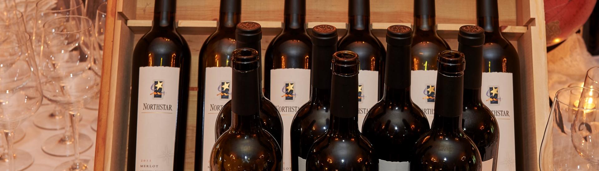 Wine Dinner wine bottles